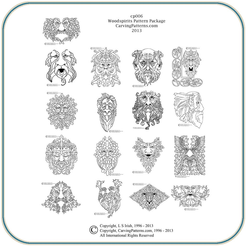 Wood Spirit Patterns – Classic Carving Patterns