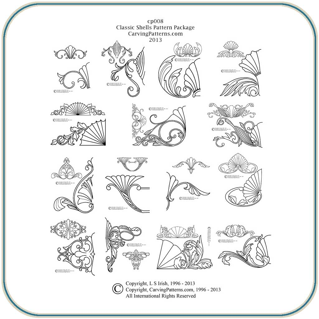 L s irish free relief carving pattern joy studio design