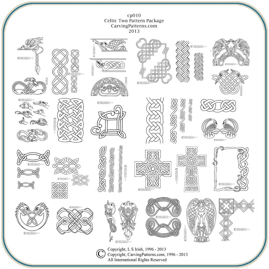 Celtic knots two classic carving patterns