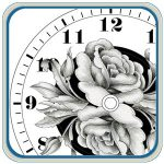 Floral Clock Patterns