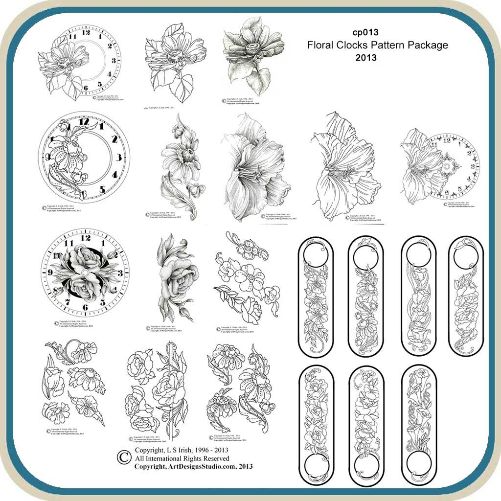 Floral clocks classic carving patterns
