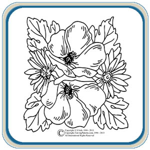 Flower Carving Patterns – Classic Carving Patterns
