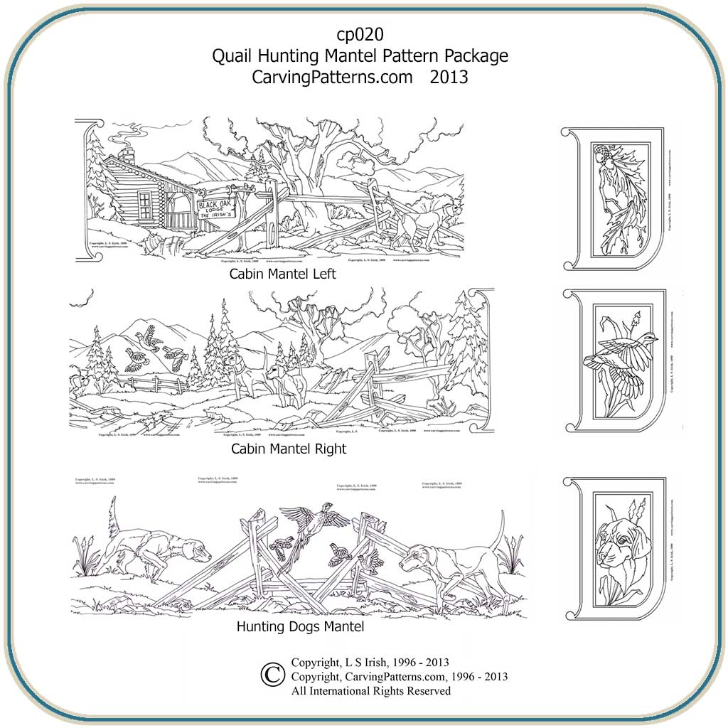 Quail Hunting Patterns – Classic Carving Patterns