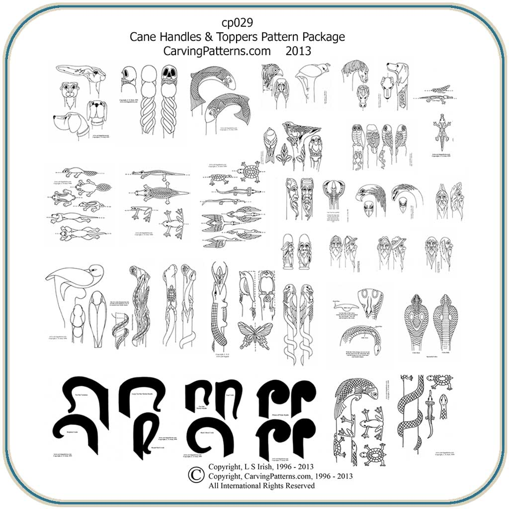 Walking Stick Carving Templates