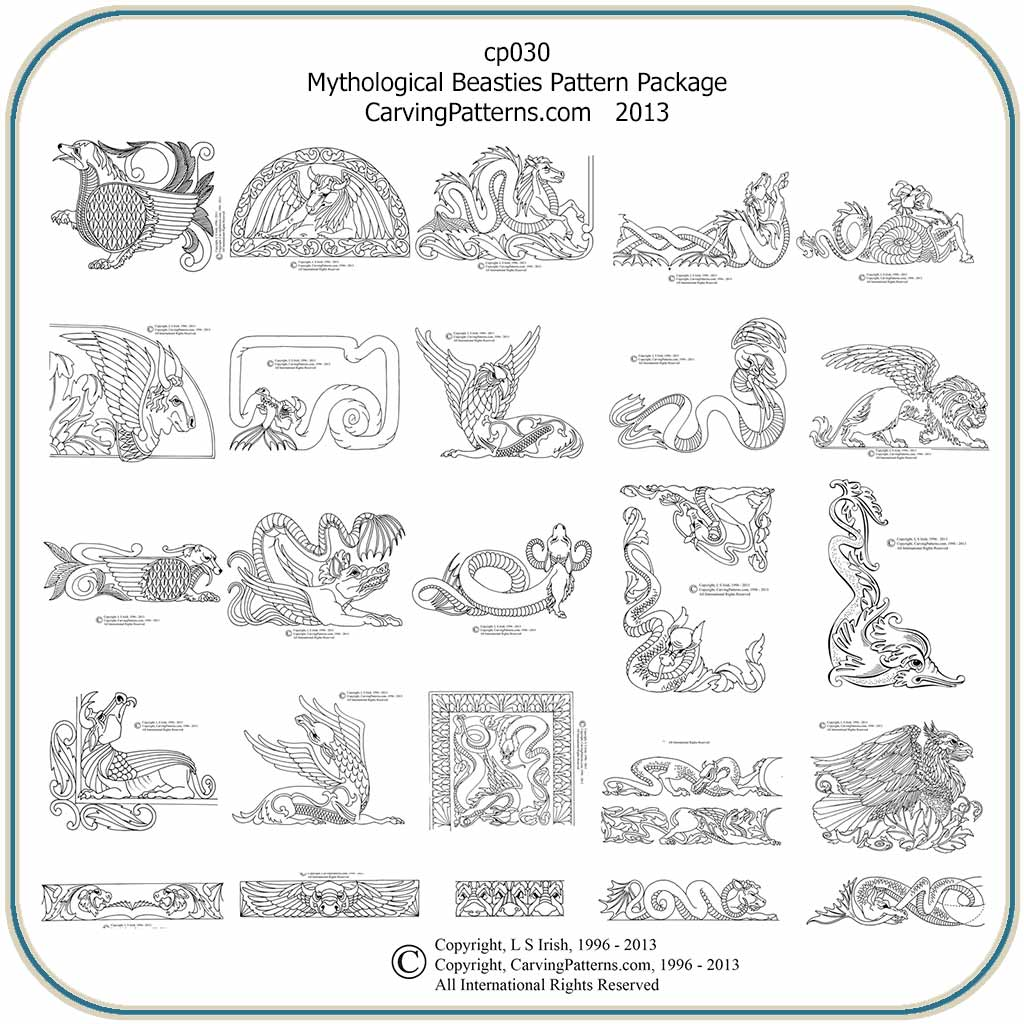 Myth Beasties Patterns – Classic Carving Patterns