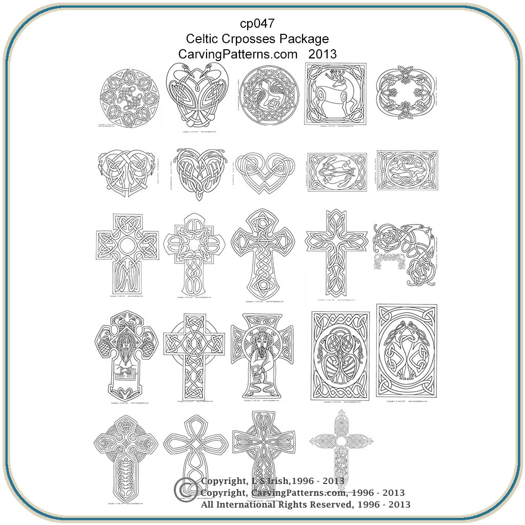 Celtic crosses panels patterns classic carving