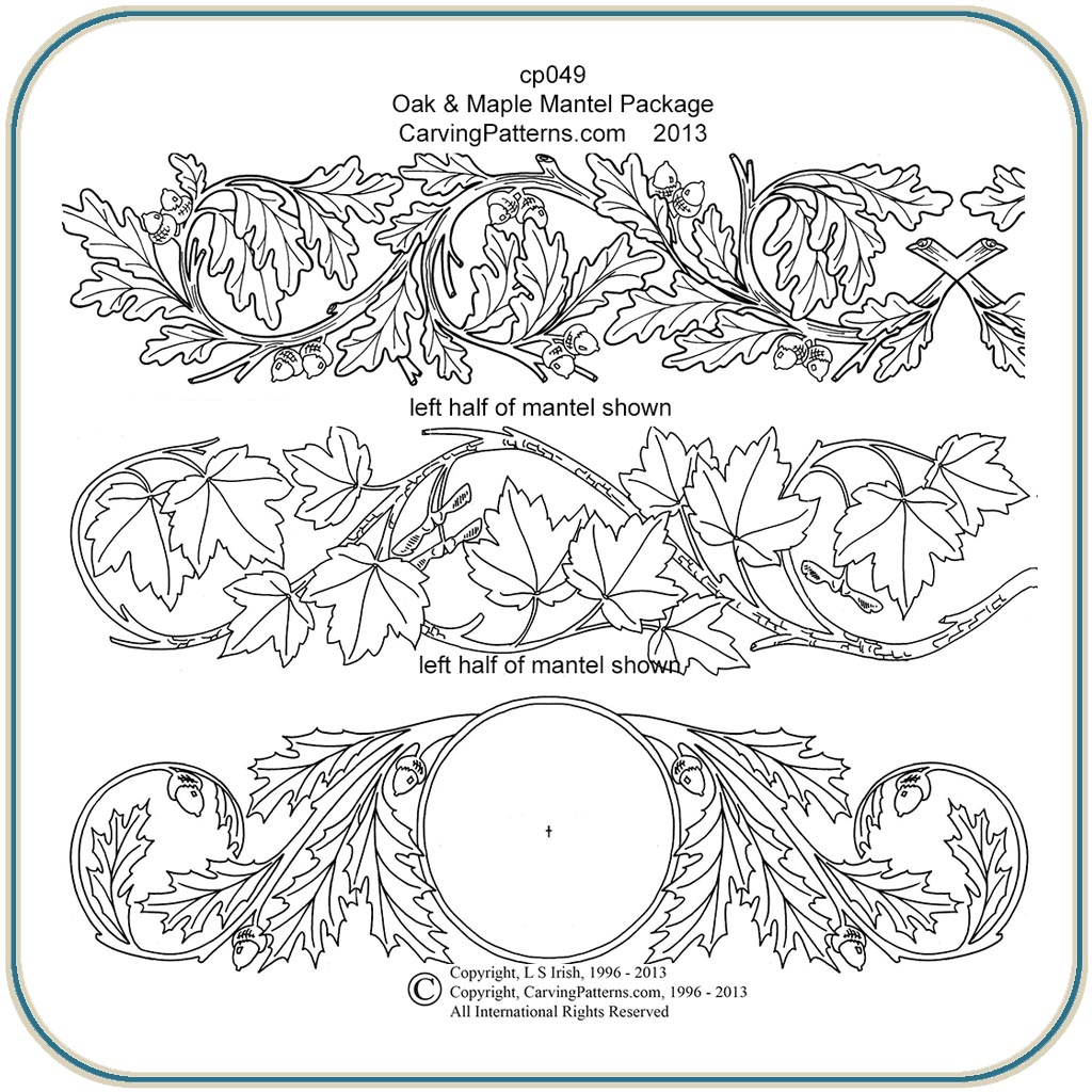 Oak & Maple Mantels Patterns – Classic Carving Patterns