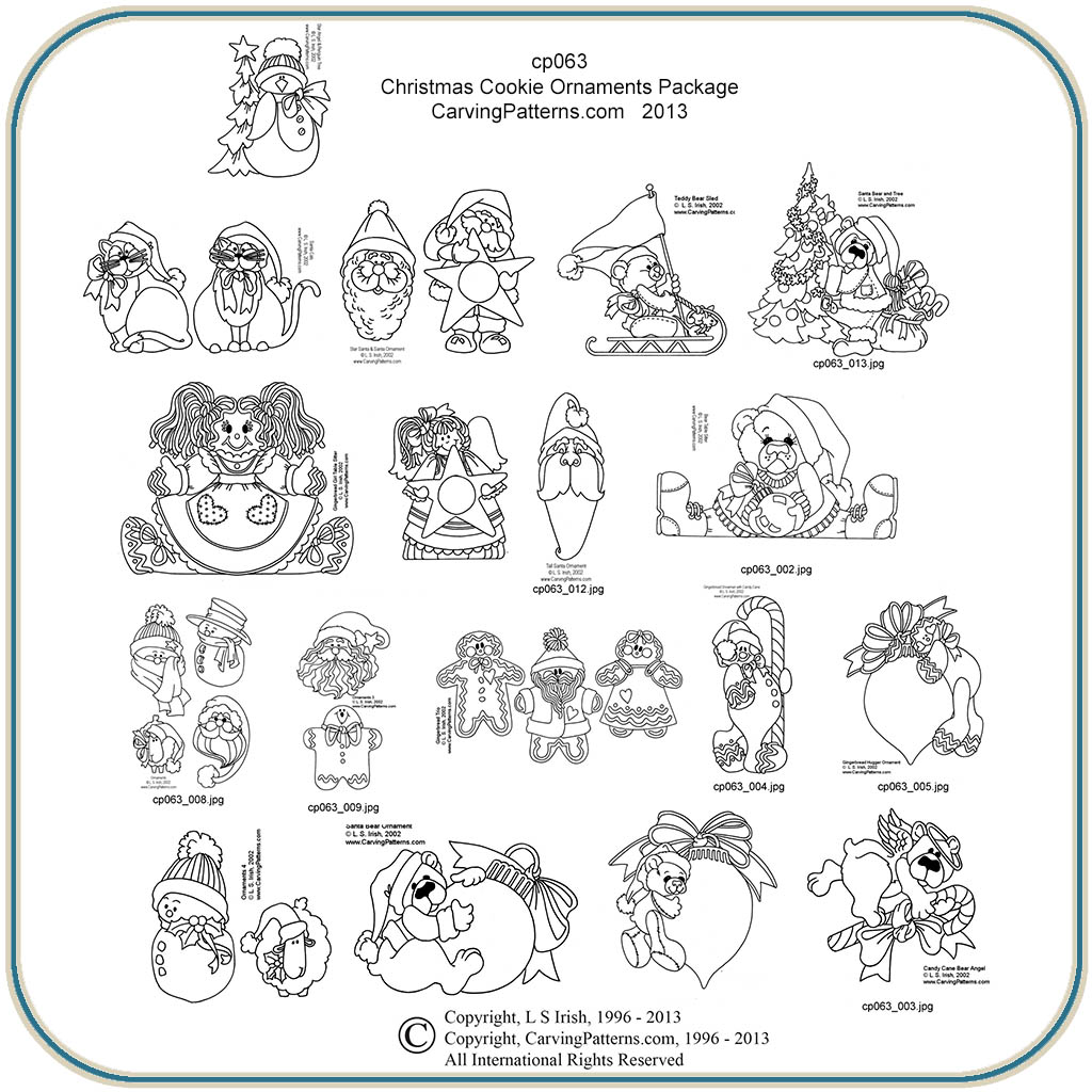 Christmas Cookies Patterns Classic Carving Patterns