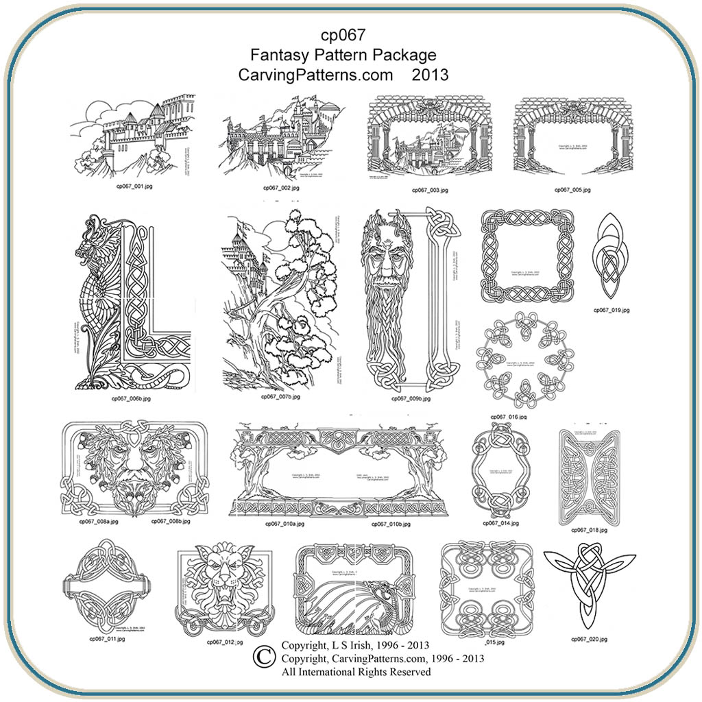 Fantasy Patterns Classic Carving Patterns