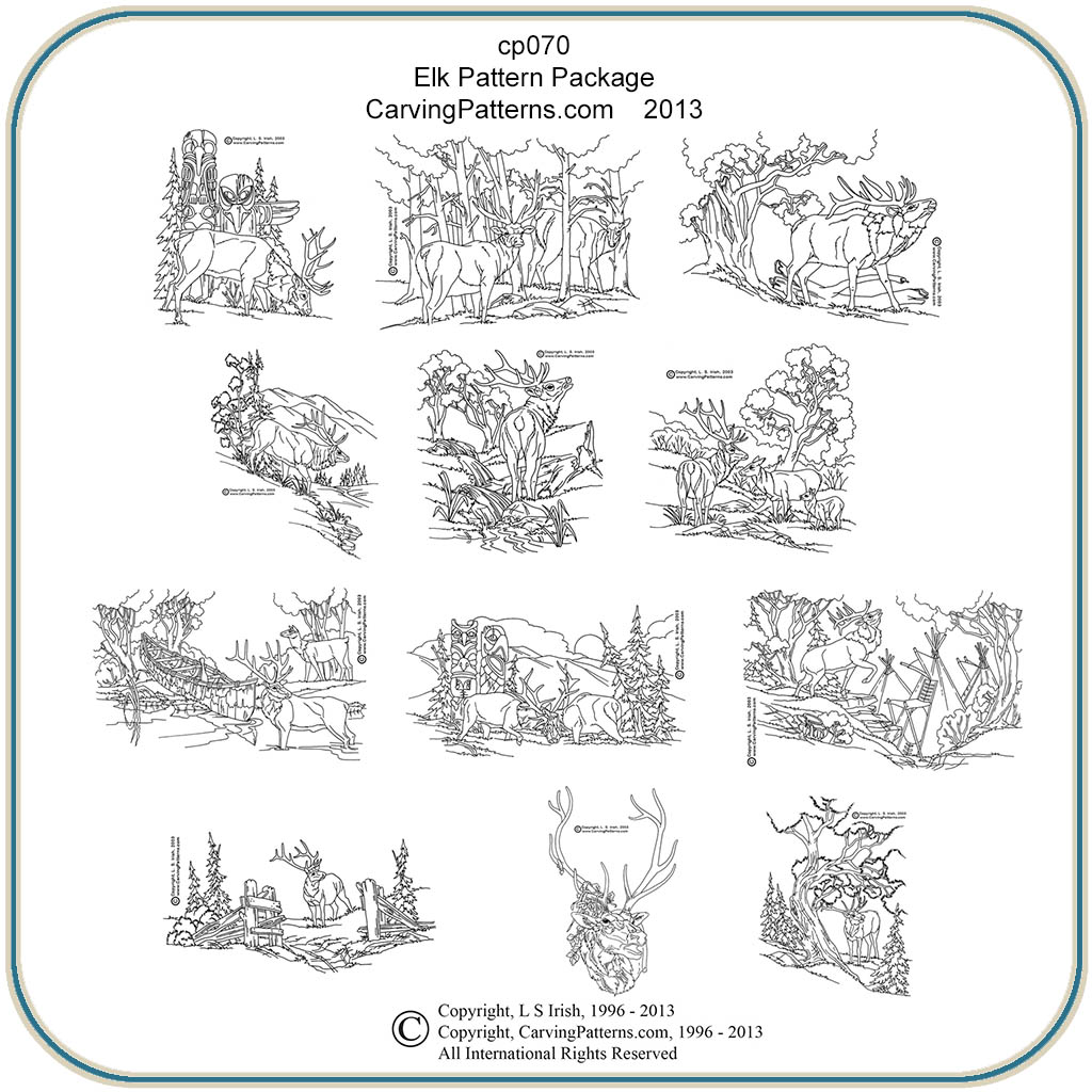 Elk Patterns – Classic Carving Patterns