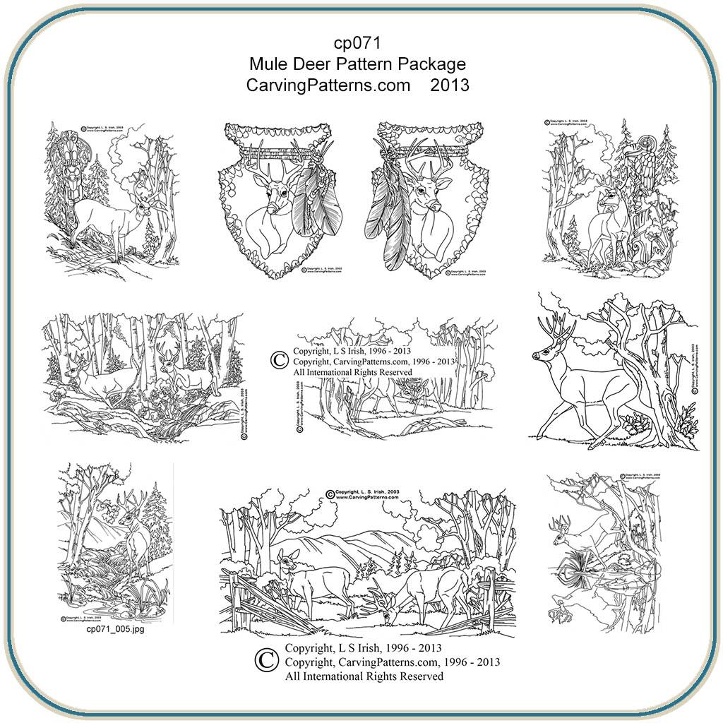 Gunstock Whitetail Carving Templates – Jerusalem House