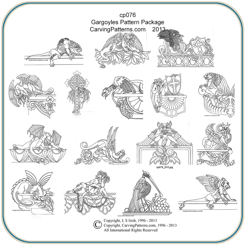 Gargoyle Patterns – Classic Carving Patterns