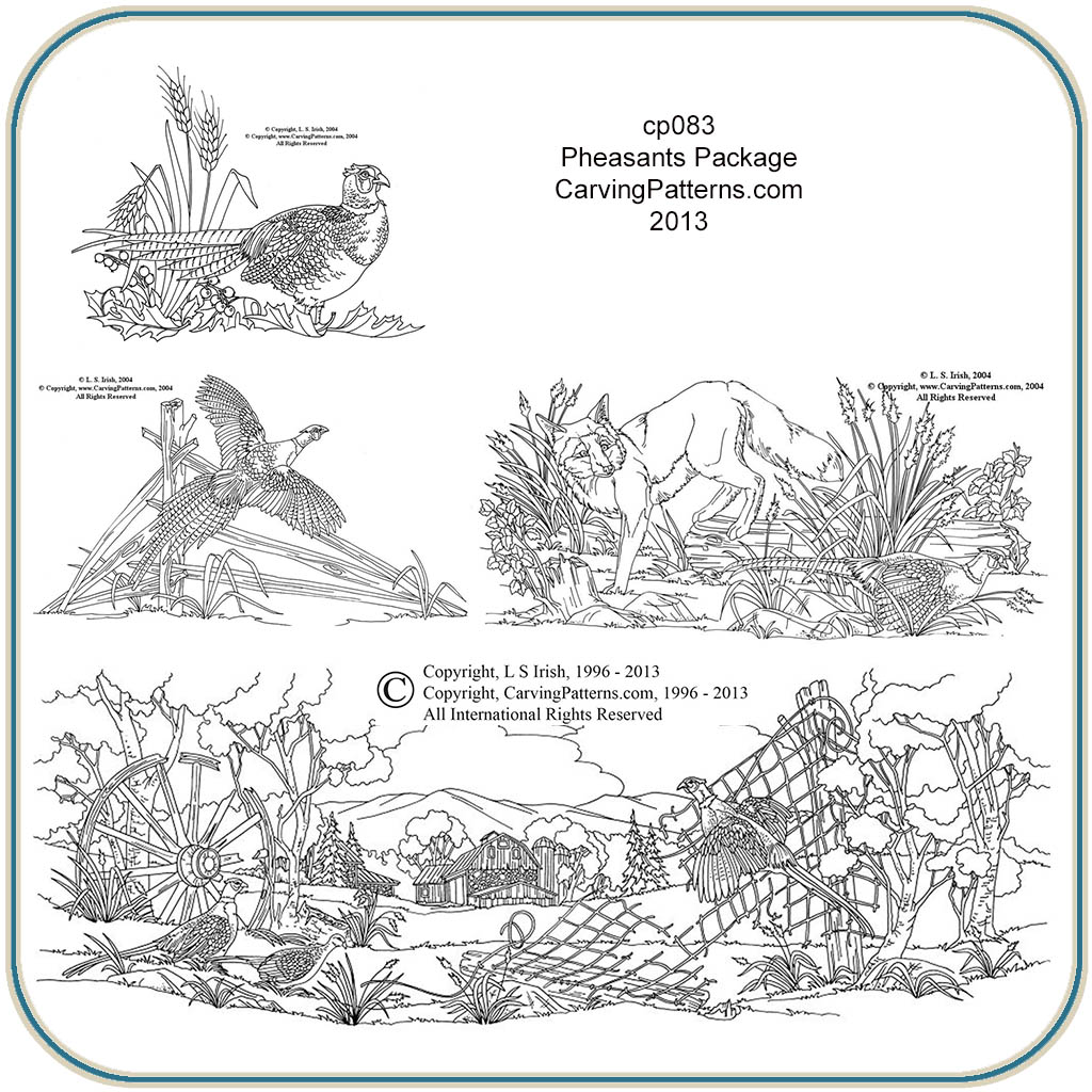 Ringed Neck Pheasants Patterns Classic Carving Patterns