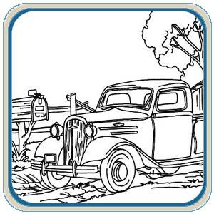 Old Cars Trucks Patterns