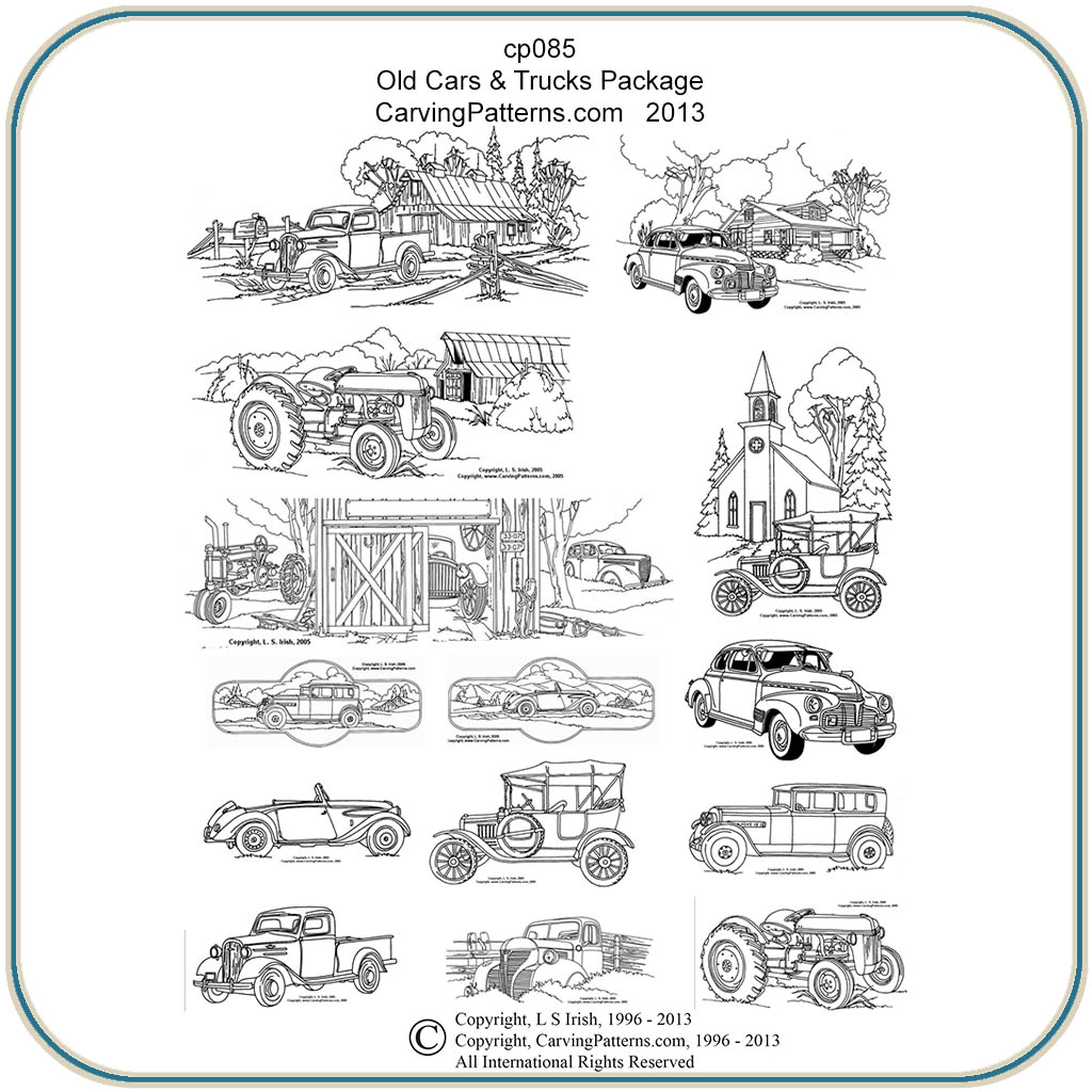 Old cars trucks patterns classic carving patterns for Irish mail cart plans