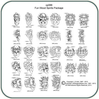 Fun Wood Spirits Patterns by Lora S. Irish