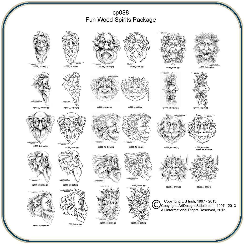 Fun Wood Spirits & Greenmen Patterns – Classic Carving Patterns