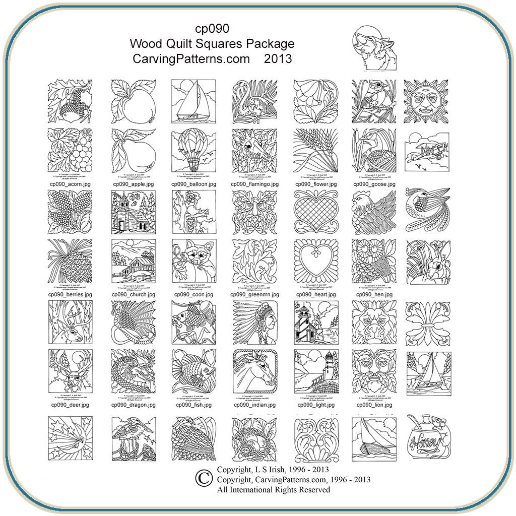 Wood Quilt Squares Patterns Classic Carving Patterns