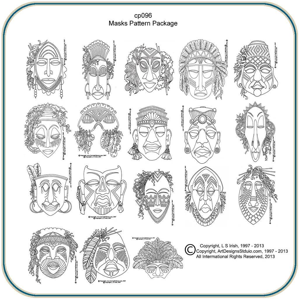Ceremonial Masks By Lora S Irish