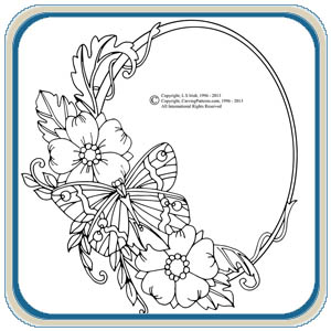 Wood Flower Circles Patterns – Classic Carving Patterns