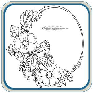 Wood Flower Circles Patterns
