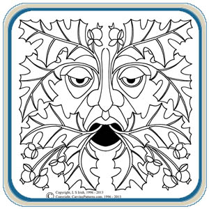 leaf eater greenman patterns