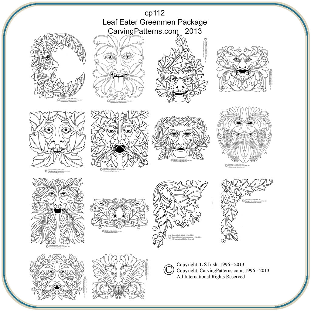 Leaf Eaters & Greenmen Patterns – Classic Carving Patterns