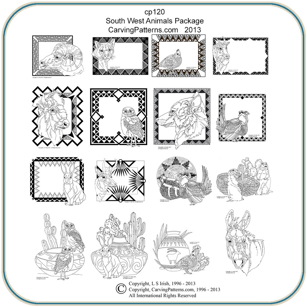 Southwest animal patterns classic carving