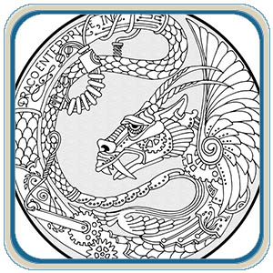 Dragon Medallions Patterns – Classic Carving Patterns