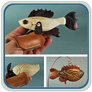 Duck Decoys, Wood Duck Decoys, Hand Carved Geese, Fish and