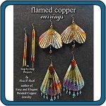 Flamed Copper Earrings by Lora S. Irish