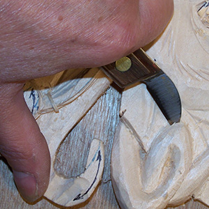 bench knife for relief wood carving