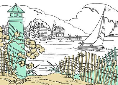 landscape pattern by Lora Irish