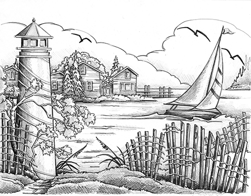 Free Coloring Pages Of Lighthouse Book