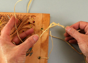 book binding a leather journal