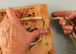 book lacing an artist journal