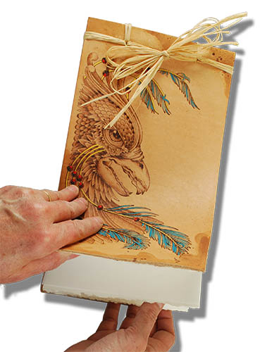 Pyrography Leather Journal – Classic Carving Patterns