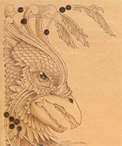 griffon dragon pyrography by Irish