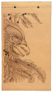 detailing a pyrography pattern