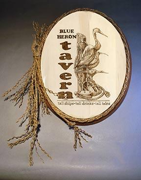 Blue Heron Pyrography