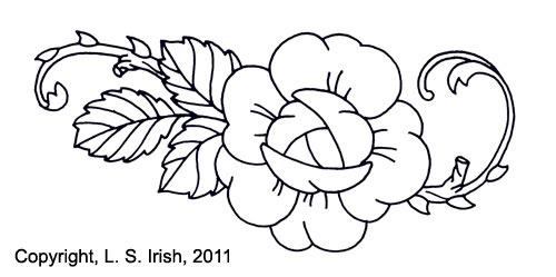 Free Pyrography Flower Pattern