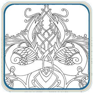 Celtic Dragon Sign Patterns