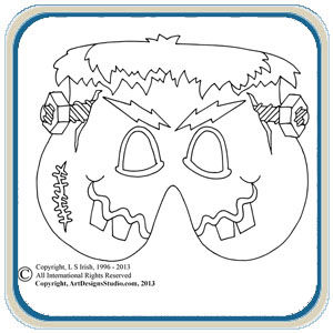 Halloween mask patterns by Lora S Irish