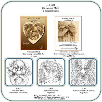 Ceremonial Mask E-Project Bundle by Lora S. Irish