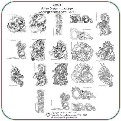 Asian Dragon Patterns