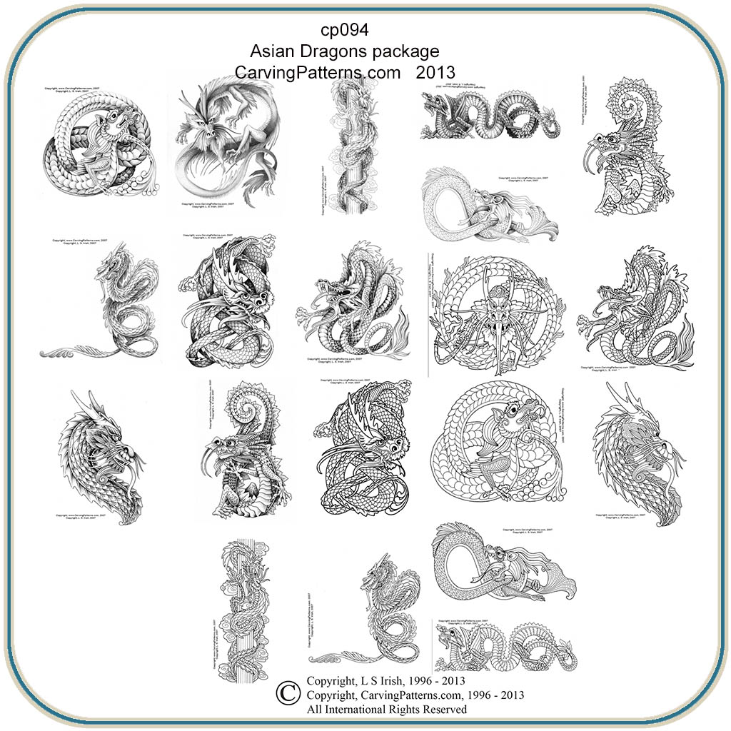 Asian Dragons Patterns – Classic Carving Patterns