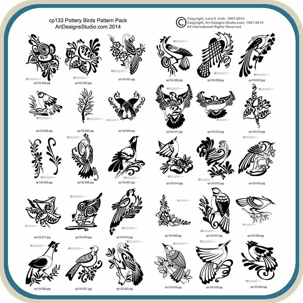 Pumpkin painting templates pottery birds classic carving