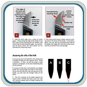 sharpening both double-edged bench knives