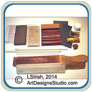 working with a leather strop and honing compound