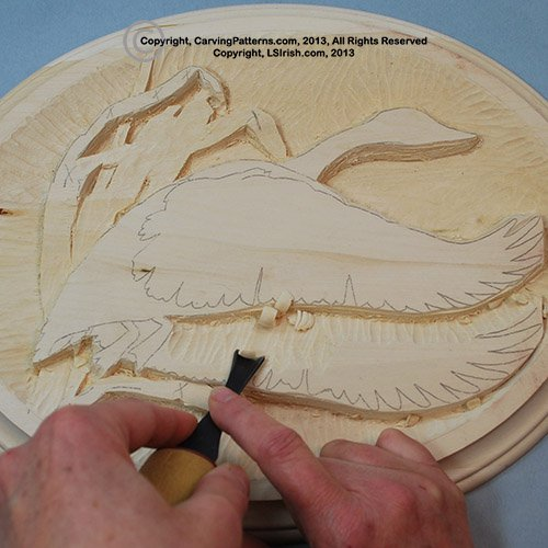 Canada goose free relief wood carving project classic